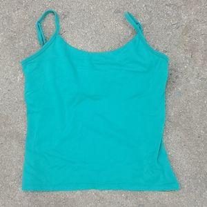Emerald green body shaper camisole crop